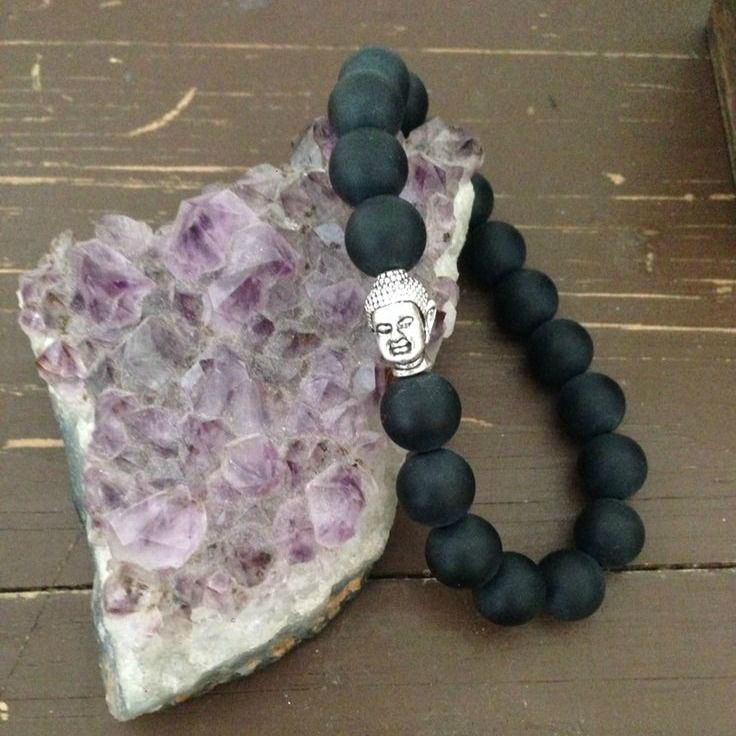 Black Agate Buddha Bracelet, $10.00  Healing, Protection stones, gemstones