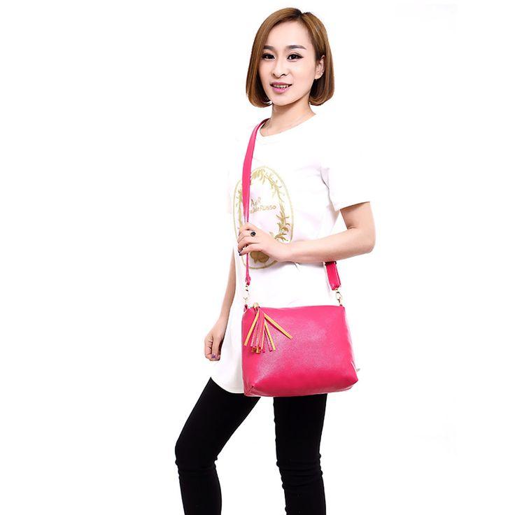 Popular Handbags Mini PU Messenge Bag Small Diagonal Women One Shoulder Tassel Bags High Quality WML99. Click visit to buy