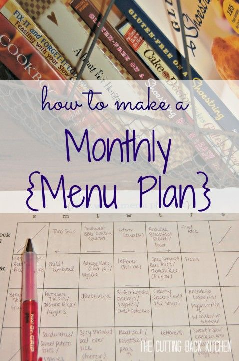 Planning a Monthly Menu - the best way to plan out a menu to save yourself both time and money! - www.cuttingbackkitchen.com