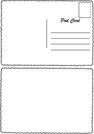 postcard template after reading postcards from camp by simms