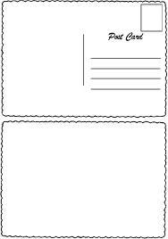 postcard template postcards and templates on pinterest. Black Bedroom Furniture Sets. Home Design Ideas