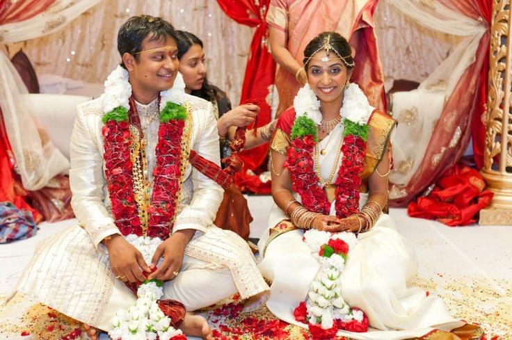 Traditional Telugu Brahmin Bride with Modern Groom attire
