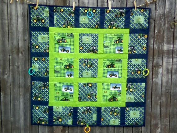 John Deere Tractor Quilt//Tummy Time Quilt//Baby Boy