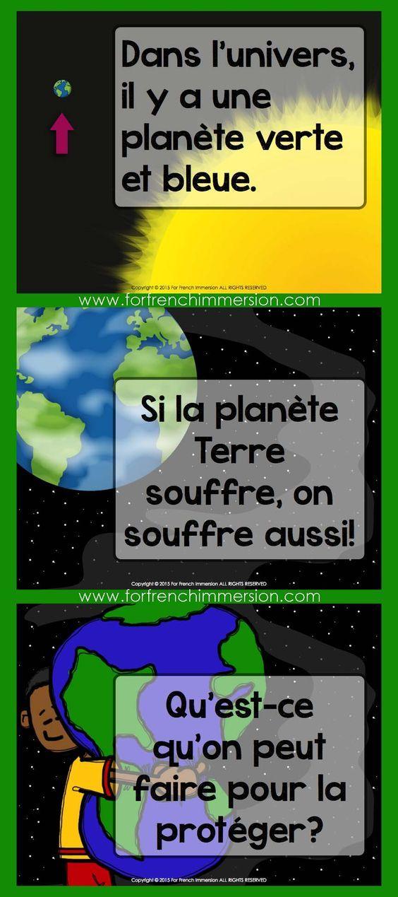 Jour de la Terre en français - Earth Day Slideshare Discussion Prompt in French