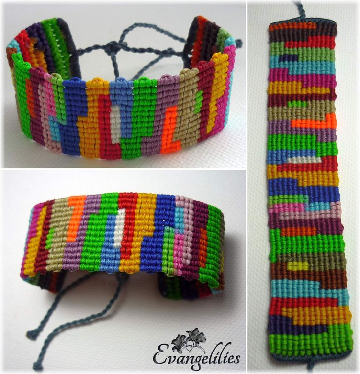 A 'color palette' macrame bracelet! Video tutorial here: https://www.youtube.com/watch?v=kh6nlZdb8Cg