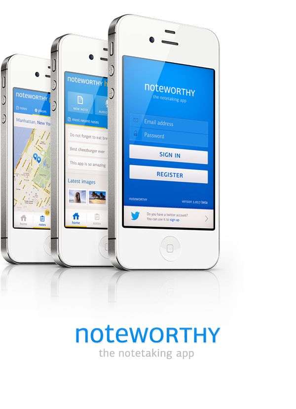 Noteworthy app concept on Behance