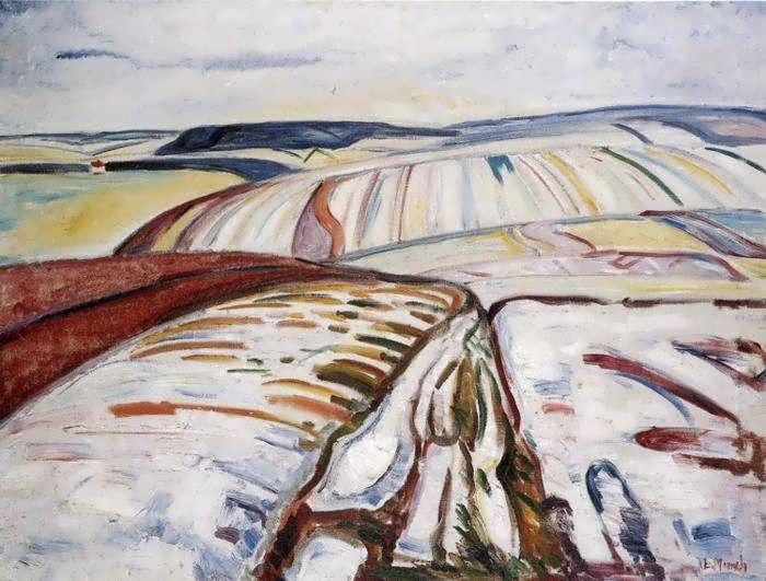 Winter Landscape, Elgersburg | Edvard Munch Oil Reproduction