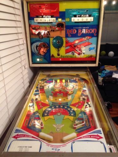 "1975 Red Baron ""Chicago Coin"" Pinball Machine"
