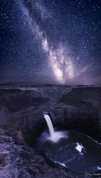 ~~Galaxy Falls ~ Milky Way, Palouse Falls, Washington by Jeremy Duncan~~
