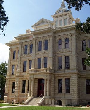 Milam County Courthouse. 1892 courthouse in the Renaissance Revival style.
