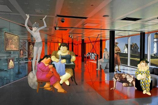 Tint Gallery :: Past exhibitions (Georgia Kotretsos, Artemis Potamianou, A. Potamianou, Re-view: series Harlequin)