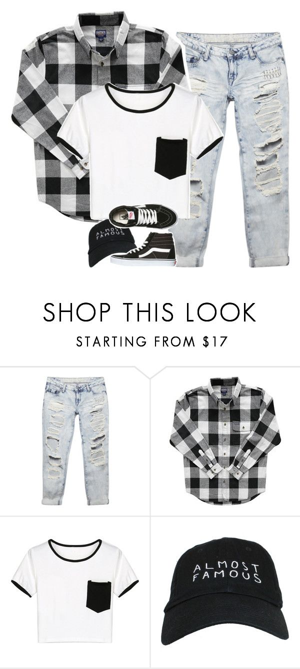 """""""promise me no promises"""" by graciegirl2015 ❤ liked on Polyvore featuring Wet Seal, WithChic, Nasaseasons and Vans"""