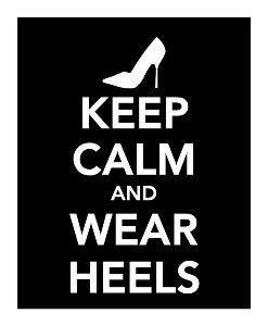 And never be ashamed of being tall in heels! So what if you're taller than a man? Be an Amazon! :)