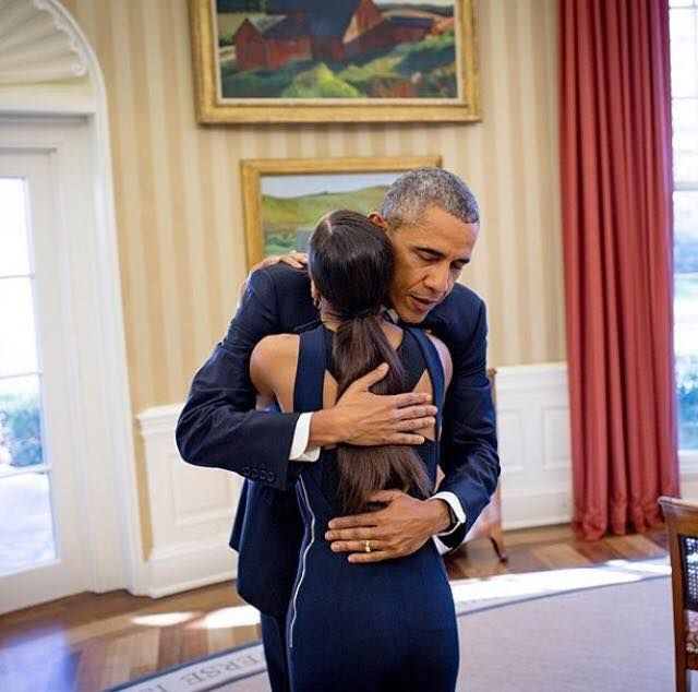 The first African American president, President Barack Obama, embracing the first African American woman principal dancer at the American Ballet Theatre, Misty Copeland. heart emoticon !  Today, TIME and Essence Magazine released their three part video series, featuring Obama and Copeland having an open conversation about race, body image, breaking barriers, and empowering the next generation.  #knowyourstory