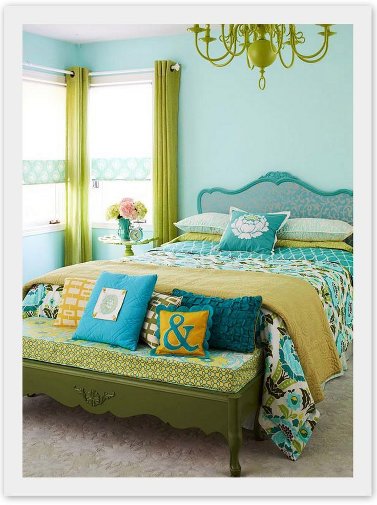 9 Best Blue And Green Bedrooms Images On Pinterest