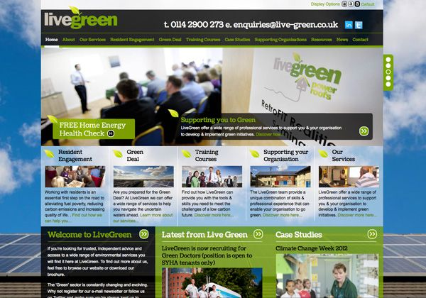 Live Green Web Design Sheffield