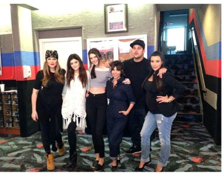 Kim Kardashian, Kourtney Kardashian, Khloe Kardashian, Kendall Jenner, Kylie Jenner and Robert Kardashian Jr.
