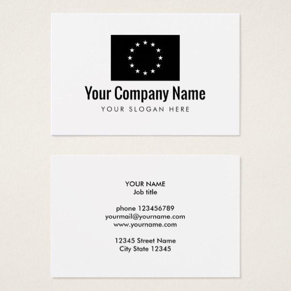 European Union flag company business card EU size Custom office supplies #business #logo #branding