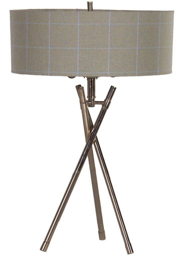 Table Lamps for console table to add height to the room and divide the two spaces visually.