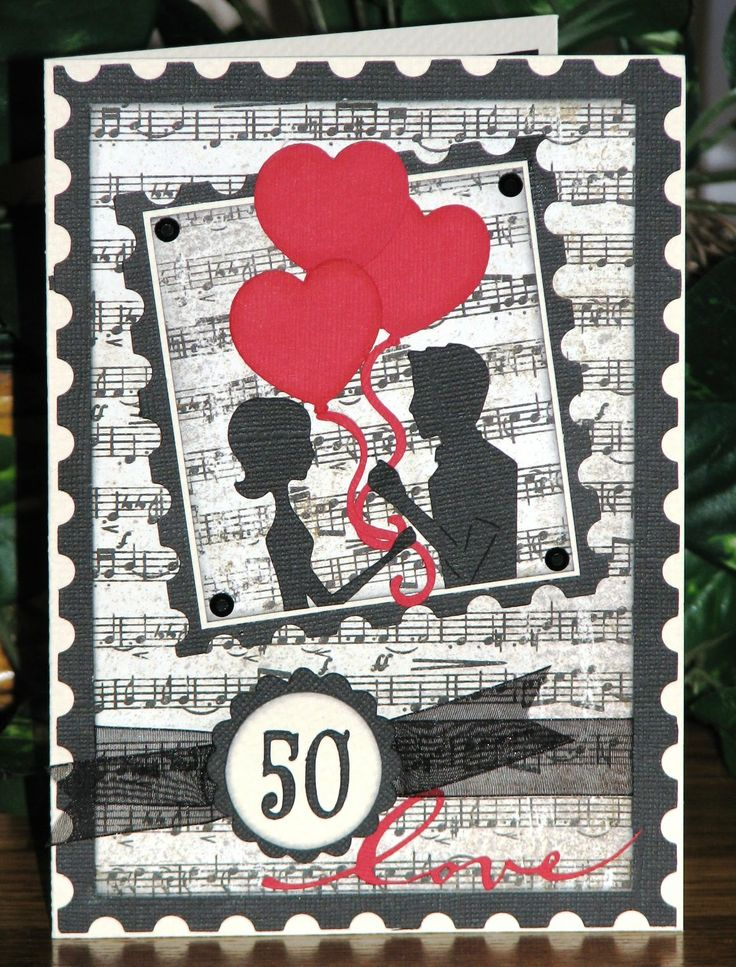 Homemade 50th anniversary cards | The Avid Scrapper: 50th Wedding Anniversary Card
