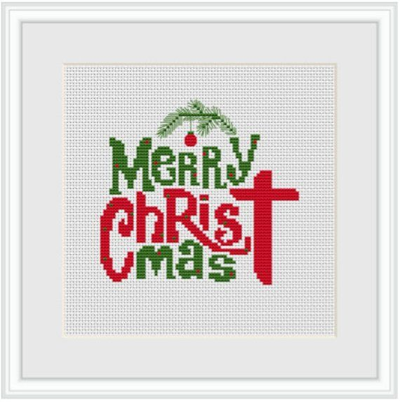 Stitchlets X Stitch Kit Meery Christmas