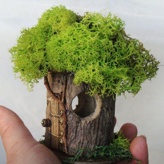 Petite Fairy House #P-9: indoor, outdoor, Fairy Garden, hand built, natural…