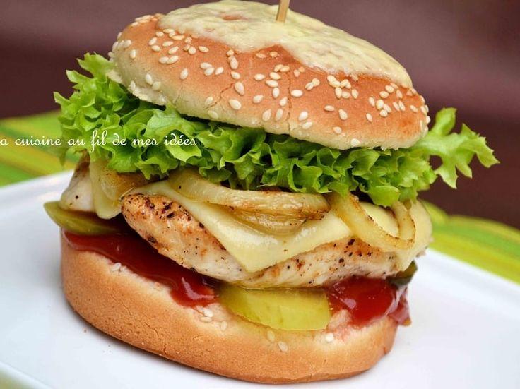 Burger maison au poulet et fromage Leerdammer