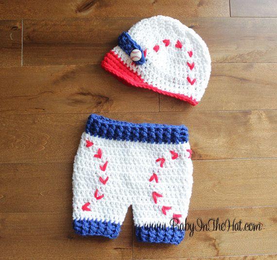 Tapa deportes y pantalones cortos de béisbol recién Crochet