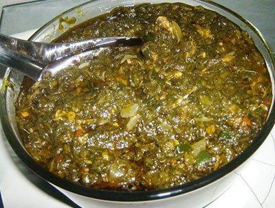 Malian sweet potato leaf sauce saka saka du mali a - Cuisine congolaise rdc ...