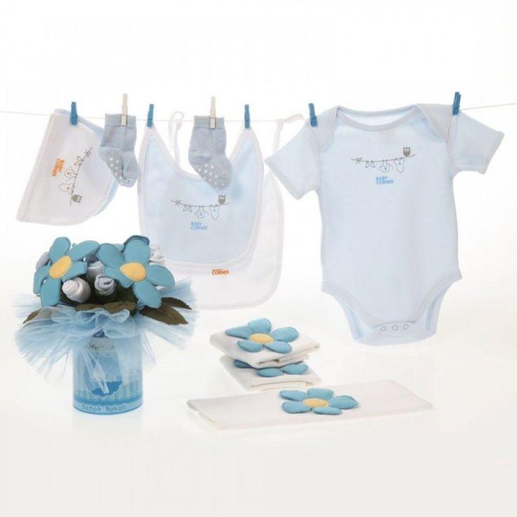 Baby Corner Standart Bebek Buketi Mavi