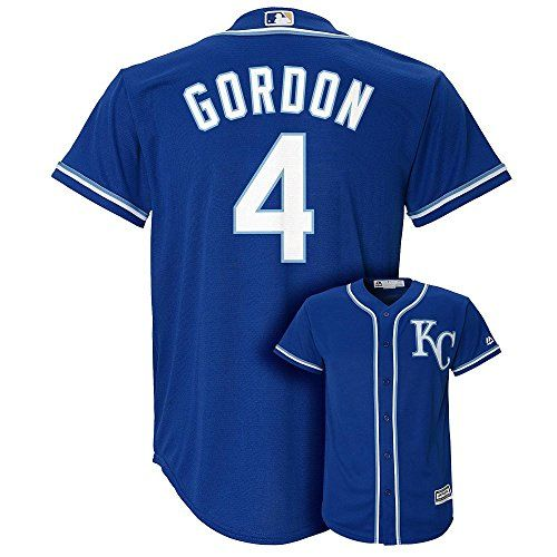 Cheap Alex Gordon Kansas City Royals 4 MLB Youth Cool Base Alternate Jersey Blue (Youth Large 14/16) Father day sale