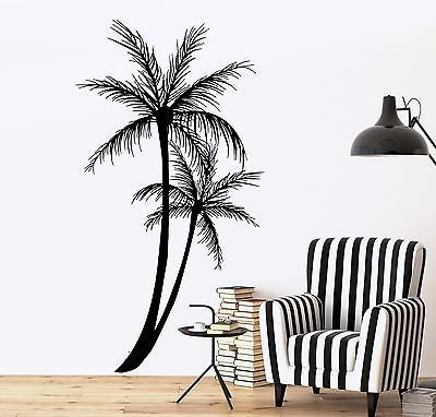 Wall Decal Palm Tree Floral Romantic Vinyl Sticker (z3630)