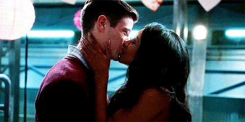*Hardcore ignoring the painfully pointless Flash 3x16 ending* These adorable babies are so meant to be that I'm like titanium where they're concerned. They're inevitable. I'm just waiting for Music Meister to slap some sense into Barry, and then we'll be good again ;) [gif found on tumblr] |TV Shows||CW||#The Flash gifs||Season 3||3x14||Attack on Central City||#Westallen kiss gifs||Barry Allen||Iris West||Grant Gustin||Candice Patton||#DCTV||Favorite couples|