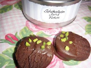 Schokoladen Sand Kekse