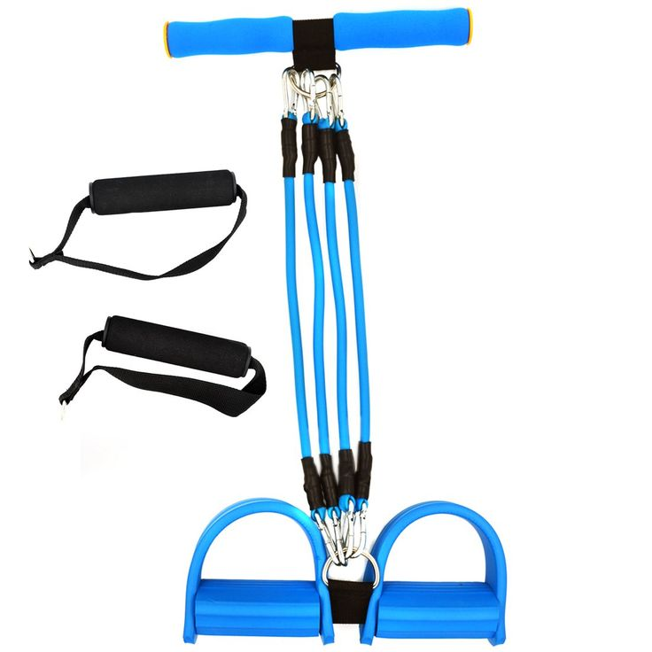 Chest Expander & Leg Exerciser / Feet Pedal Bodybuilding Expander Multi-function Adjustable 4 Resistance Bands Workout Sit-up Pulling Strap. High Qulaity Elastic Pull Rope Training Equipment: The grip is made of foam, very soft, absorbent and non-slip; The tube is made of enviromental TPU, more healthy, durable than other;. Adjustable Leg Exerciser Resistance Bands: There're 4pcs resistand cables to accommodate a range of exercise, all removable, very convenient to choose resistance you...