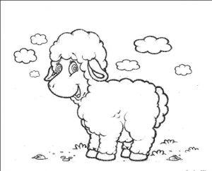 22 best Sheep Coloring Pages images on Pinterest | Kindergarten ...