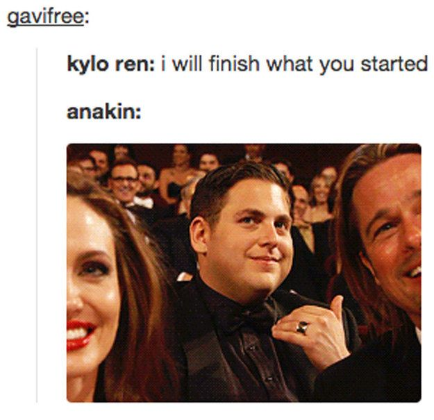 Gramps is cringing from the grave.   21 Tumblr Posts That Perfectly Capture Kylo Ren