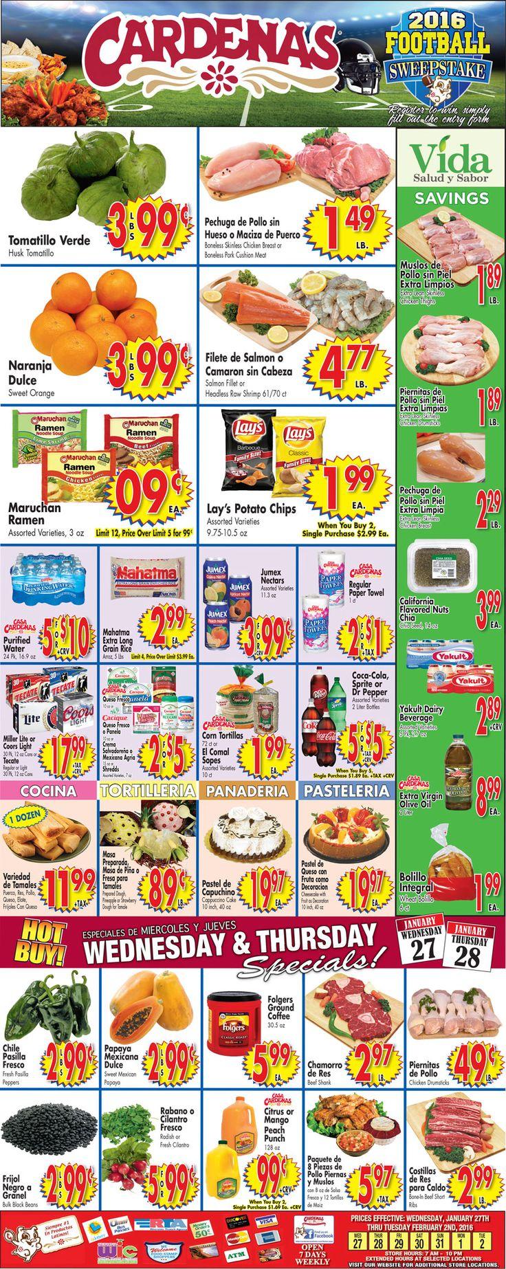 Cardenas Weekly Ad January 27 - February 2, 2016 - http://www.kaitalog.com/cardenas-weekly-ad.html