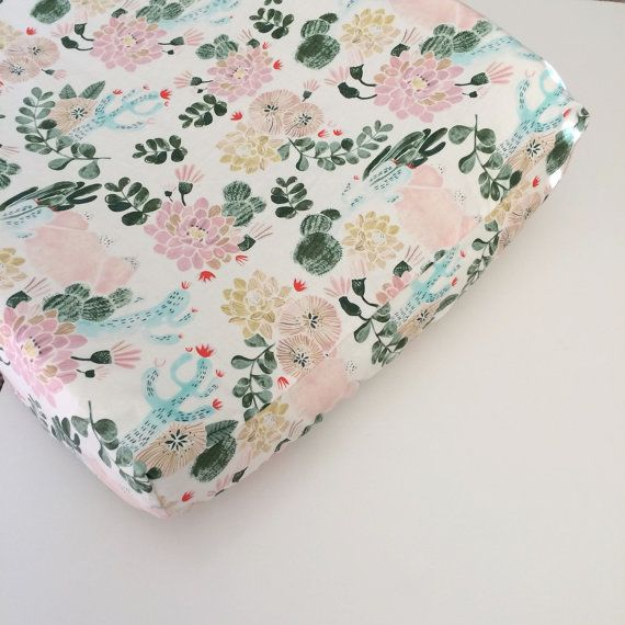 Listing for one fitted crib sheet or changing pad cover:  The cover is made with designer fabric YOUR CHOICE OF SIZE: Standard Crib mattress (28 x 52)  Mini Crib mattress (37 x 24 x 6)  Mini Crib mattress (38 x 24 x 3) Changing Pad Cover (32/33 x 16 x 4)  Elastic (cotton) is encased all the way around and French Seems for a nice finish.  REVIEW Couldnt be happier with my purchase from Babiease! The fabrics are lovely and soft and the prints are super cute. Plus they fit my cot like a glove…