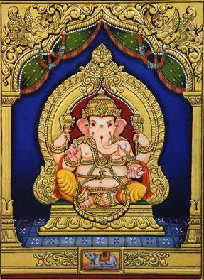 Tanjore Lord Ganesha painting