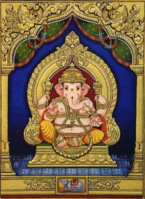 313 best tanjore painting images on pinterest for Asha mural painting