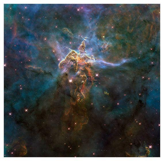 Mystic Mountain Nebula 18 x 18 Hubble Telescope by BooksmartStudio, $55.00