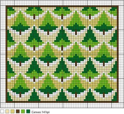 Free Bargello Needlepoint Patterns   Poderosa Pines Needlepoint Pattern - Instructions for Needlepoint ...