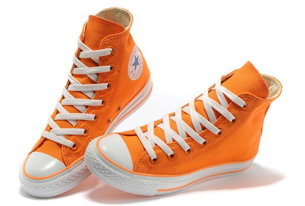 #sneakers #shoes Orange Dazzling Chuck Taylor All Star High Tops Canvas For Women Sneakers