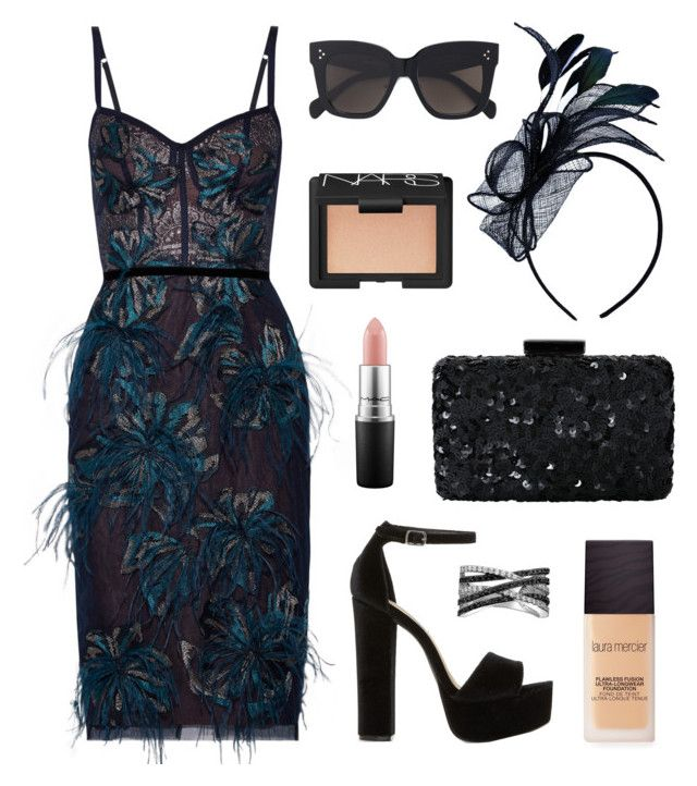 """""""Race Day Ready"""" by tasha-m-e ❤ liked on Polyvore featuring Notte by Marchesa, Oscar de la Renta, Laura Mercier, Steve Madden, CÉLINE, NARS Cosmetics, MAC Cosmetics, Bling Jewelry, melbournecup and australianmelbournecup"""