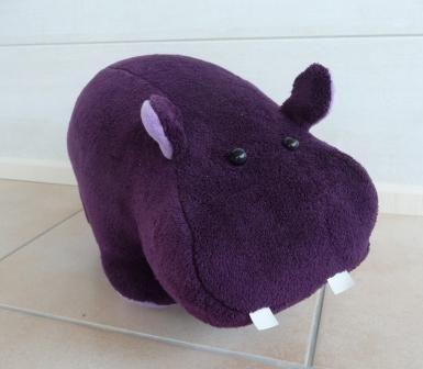 Elisabeth, le doudou hippopotame