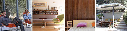 Heinz & Veroniques Mid-Century Home + Prefab Cabin + Studio House Tour   Apartment Therapy