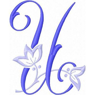 Alfabeto con Flor de Lis bordada. | Oh my Alfabetos!