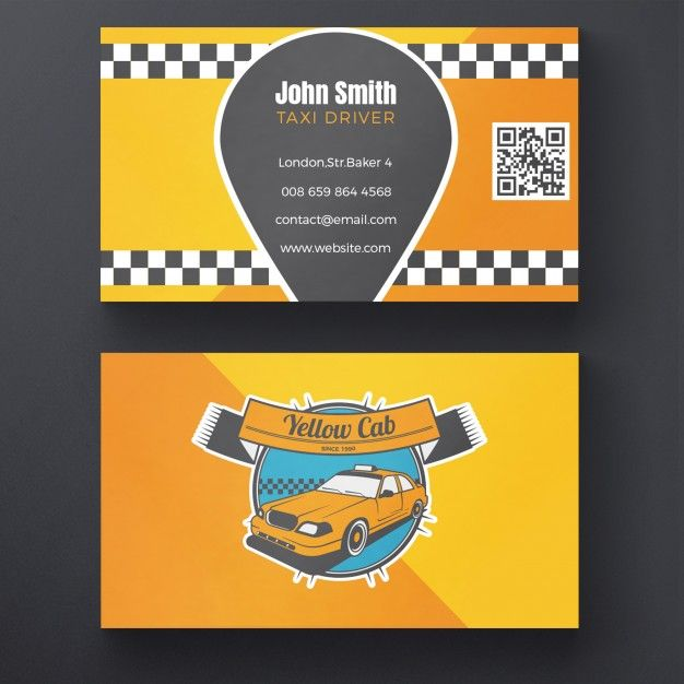 Taxi Business Card Free Psd Free Psd Freepik Freepsd Freelogo Freebusiness Card Freepattern Freebu Business Card Design Free Business Cards Card Design