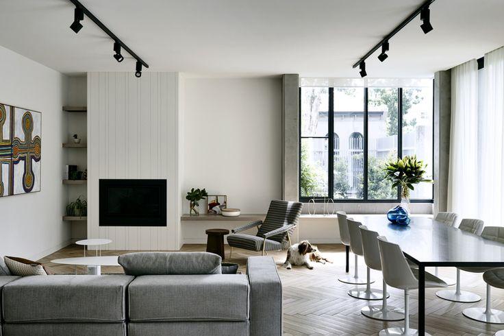 @HeatmasterAus Enviro Gas Fireplace : A genius collaboration between Hub Furniture & Neometro in Toorak features Loom Towels throughout. Heatmaster Fireplace Inspiration.